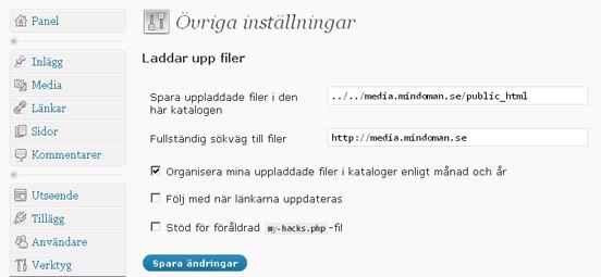 WordPress med Autobahn