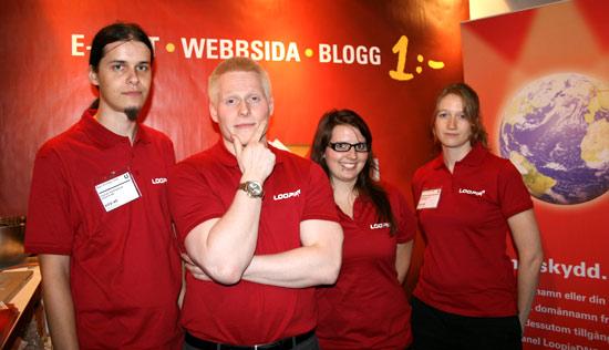 Tisdagens Loopia-crew: Stefan, Micke, Lina och Johanna
