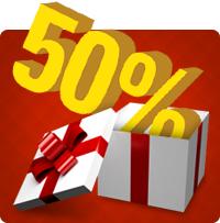 50% på webbhotell