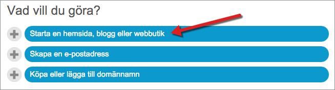 För att komma igång med WordPress hos Loopia med hjälp av WordPress-skolan börjar du med att installera WordPress genom att logga in i Loopia kundzon och klicka på Starta en hemsida, blogg eller webbutik under rubriken Vad vill du göra?