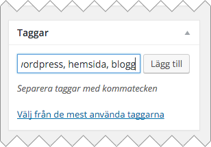 Använd taggar till ditt inlägg i WordPress för att få dina läsa att enklare förstå vad inlägget handlar om
