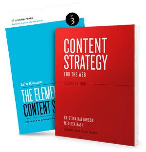 Böcker om innehållsstrategi för att producera rätt innehåll till din hemsida.