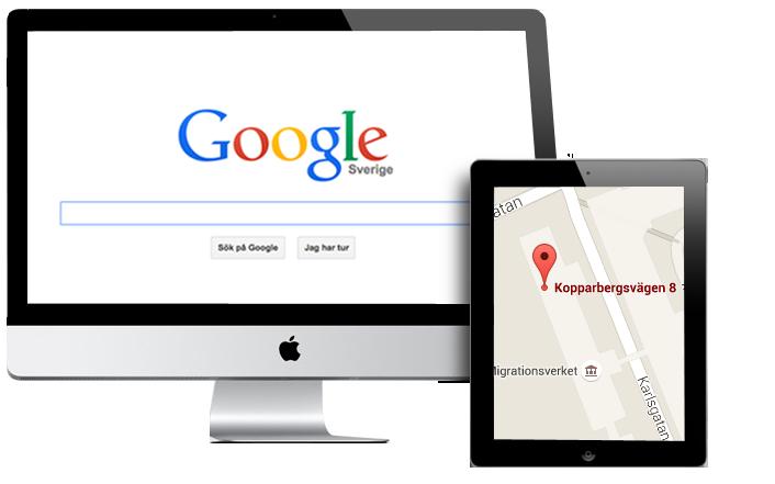 Med Google Search och Google Maps hittar kunder dig enkelt bland alla lokala företag online.
