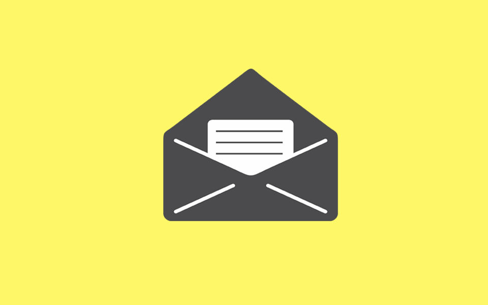 Illustration av att skicka nyhetsbrev via e-post