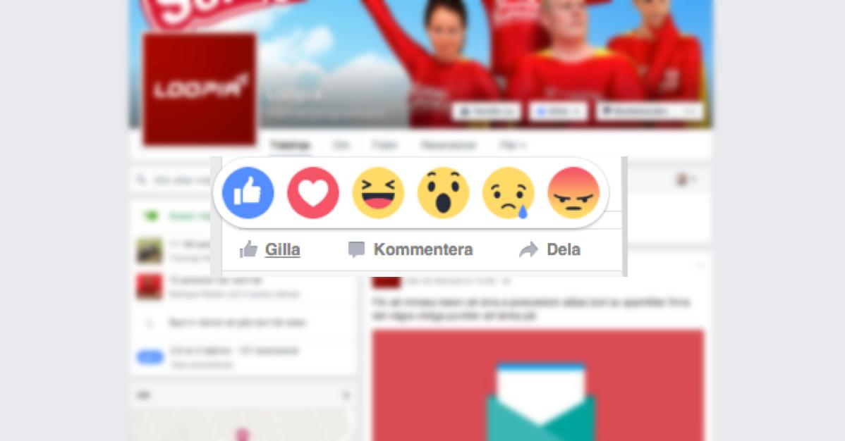 Facebook's nya uttryckssymboler. Nu kan du älska, skratta och gråta på Facebook.
