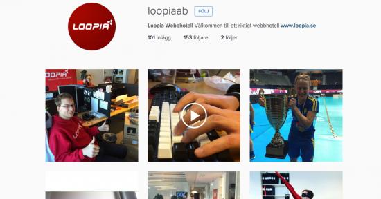 Följ Loopia på Instagram