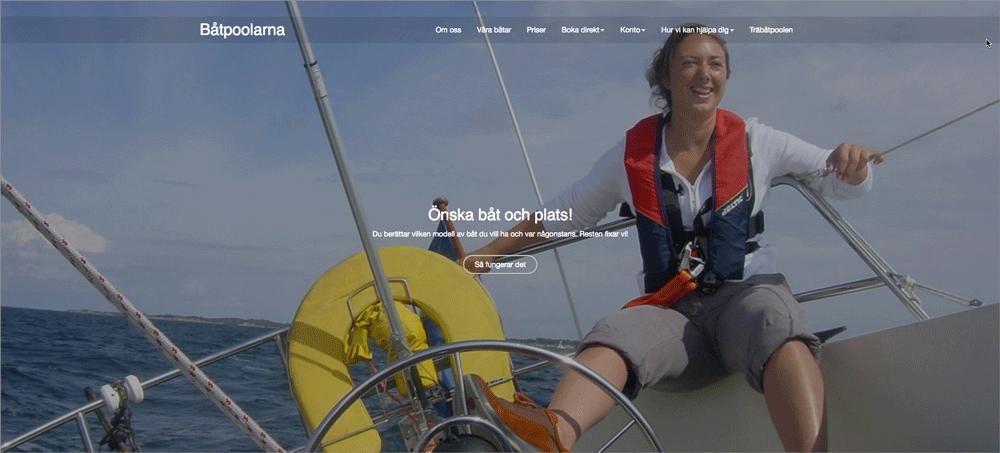 Skärmdump från batpoolarna.se. Båtpoolarna har placerat sina sajter på en LoopiaVPS.