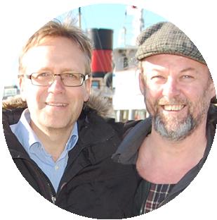 Örjan och Johan, grundare av Båtpoolarna. De placerade sin sajt på en VPS hos Loopia för att kunna erbjuda särskilda funtkioner.