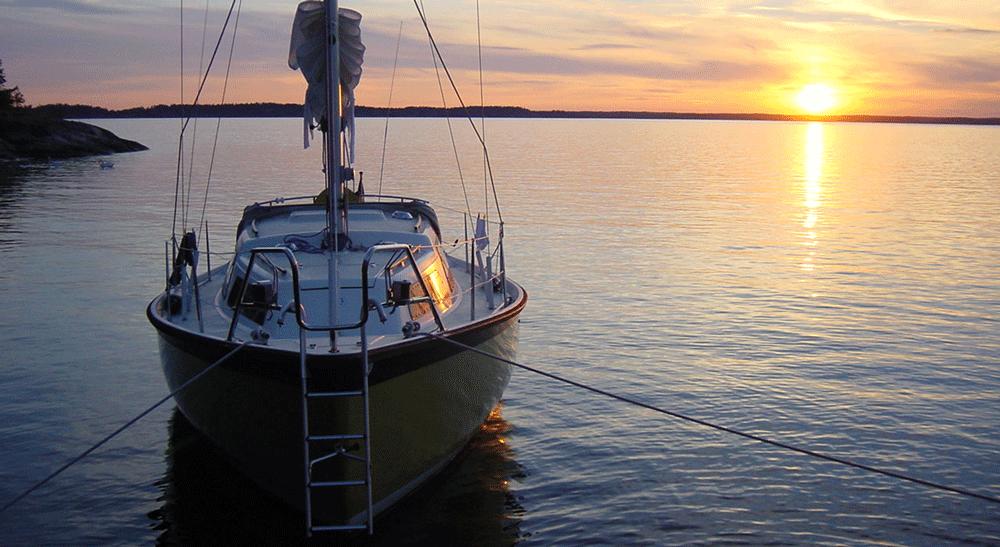 Bild tagen till sjöss. Syftet med Båtpoolarna är att låta alla få tillgång till det underbara båtlivet.