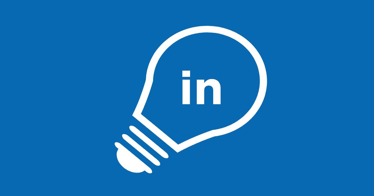 Bilden visar en glödlampa med LinkedIn-logotypen i och illustrerar hur enkelt det är att komma igång med ditt eget LinkedIn-konto.