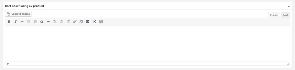 Lägg till en kort beskrivning av din produkt i WooCommerce