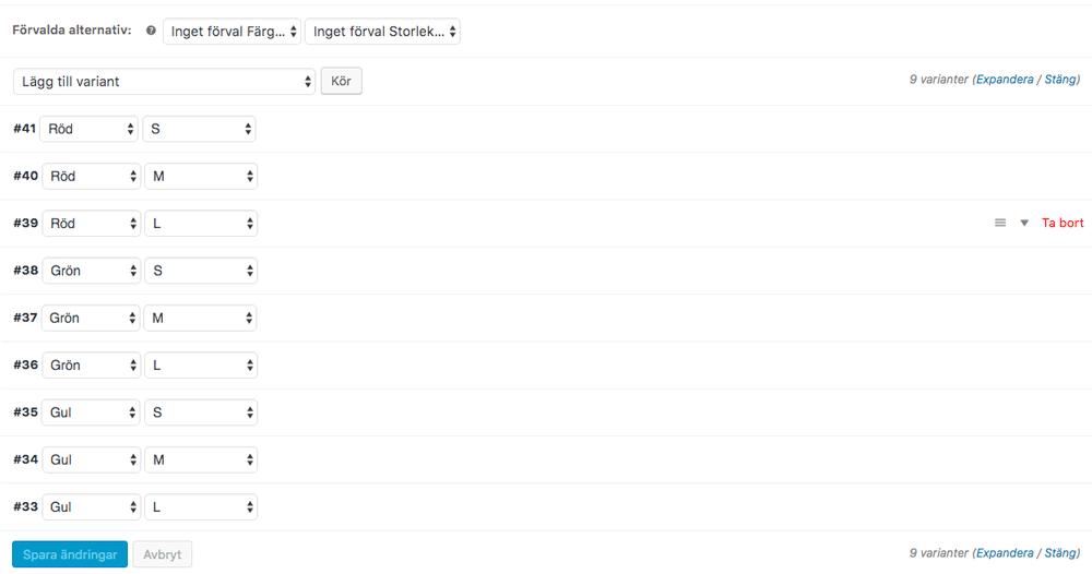 Lägg till varianter av ditt produktsortiment i WooCommerce