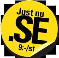 Registrera .SE-domännamn för 9 kr/st