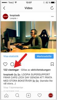 Se antal visningar av videos på Instagram