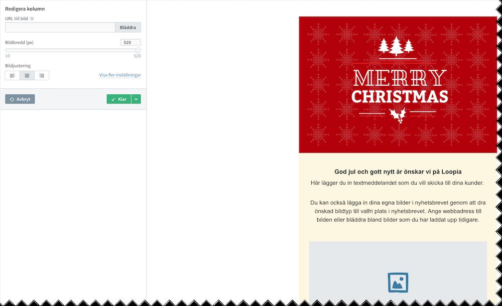 Skärmdump från Get a newsletter
