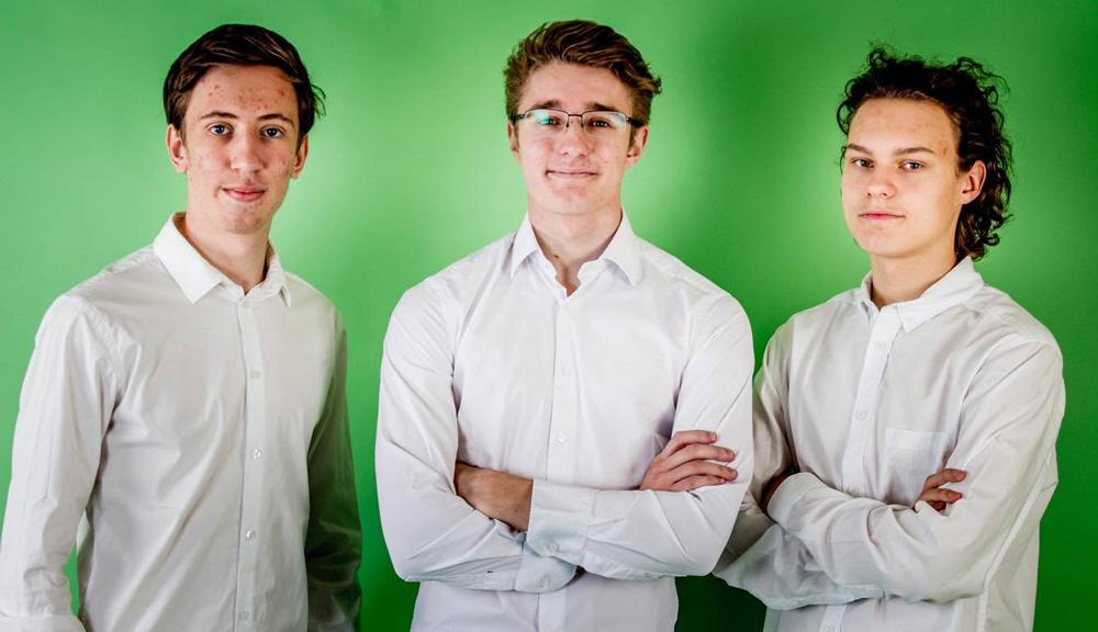 Daniel, Rasmus och Sixten från UF-företaget Somnium Audio