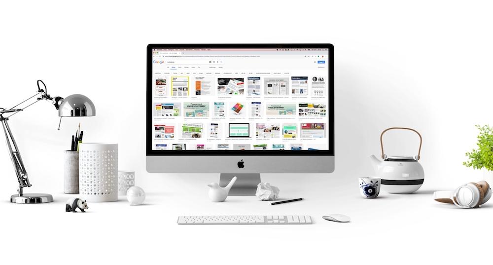 iMac som visar resultatet av Googles bildsök