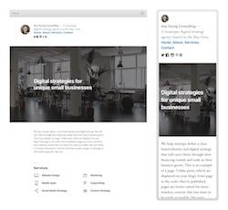 Skärmdump på WordPress nya standardtema Twenty Nineteen