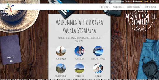 Skärmdump från utforskasydafrika.se